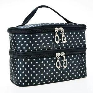 Handbags - Double decker cosmetic polka dot bag NWT